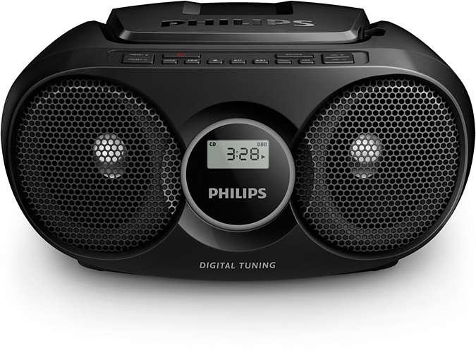 Radio cd philips soundmachine c-negro az215b-12