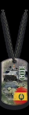 Chapa militar Con Cadena De Bolas