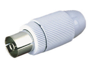 Conector de antena coaxial Hembra Blanco