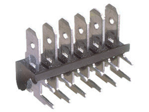 Regleta para circuito impreso terminales acodados