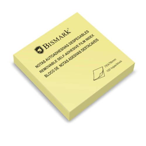Taco notas adhesivas amarillas 76x76 mm