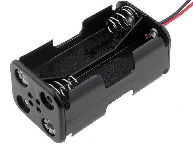Portapilas R06x4 Con Cables   4 Pilas