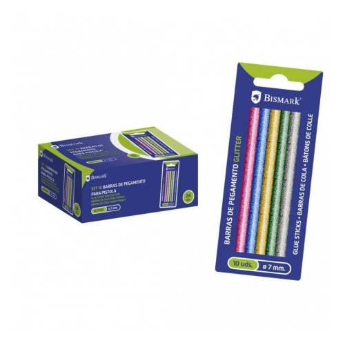 Blister 10 barras de pegamento silicona