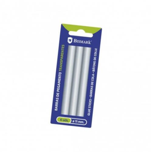 Blister 6 barras de pegamento silicona