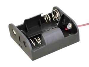 Portapilas R14 X2 Con Cables 2