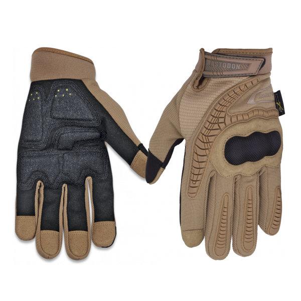 Guante Mastodon Combat OPS color coyote, protecci?n en dedos y nudillos, con refuerzo en palma, 34532