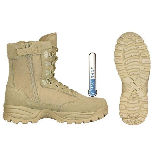 Botas Militares aridas de piel con cremallera Barbaric CoolMax 34774