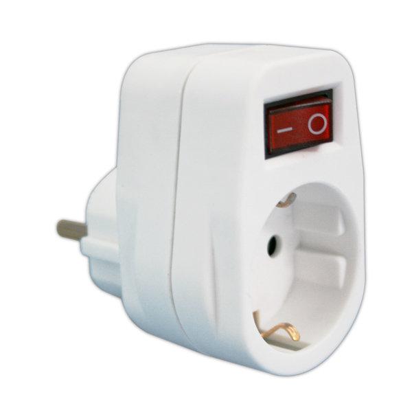 Adaptador 1 toma con interruptor 16A/250V