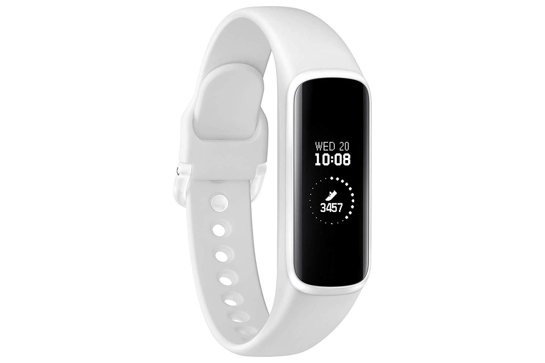Watch Samsung Galaxy Fit e SM-R375, Color Blanco (White), Resistente al agua hasta 5 ATM, Pantalla de 0,74, Control de actividades físicas y sueño. Banda de actividad. Versión EU.