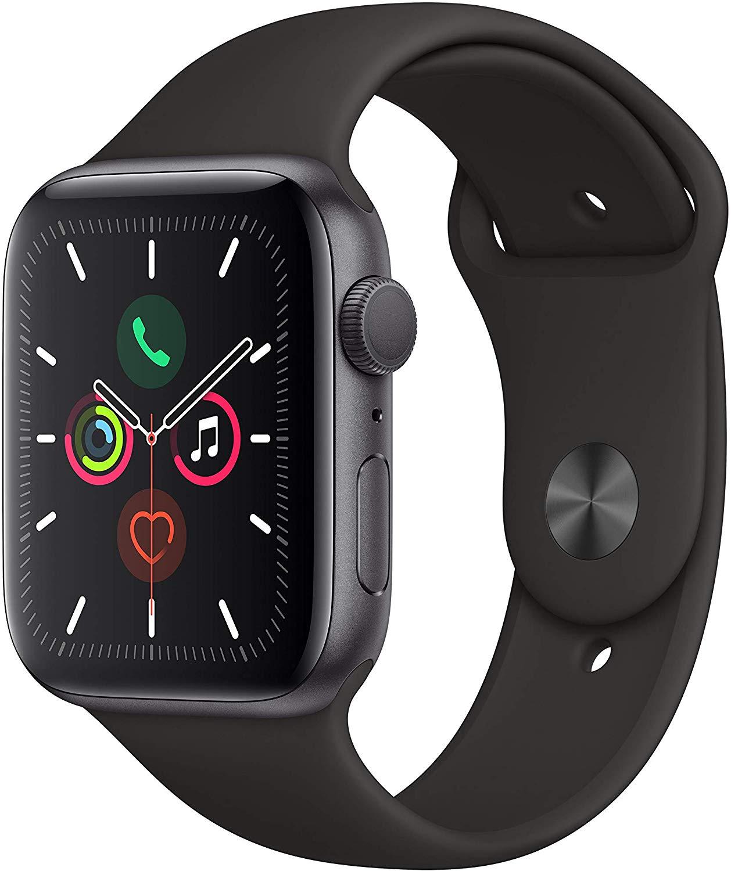 Apple Watch Series 5 GPS 44 mm aluminio gris espacial correa deportiva negro