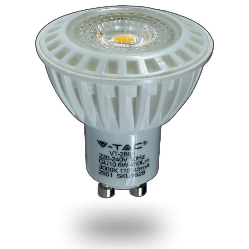 Bombilla LED GU10 6W 230Vac 3000K