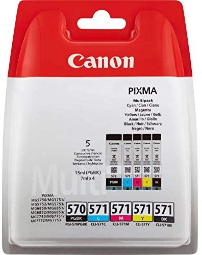 Canon PGI-570+CLI-571 5 Cartuchos Multipack de