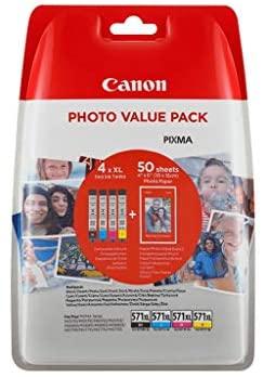 Canon CLI-571XL 4 Cartuchos de tinta
