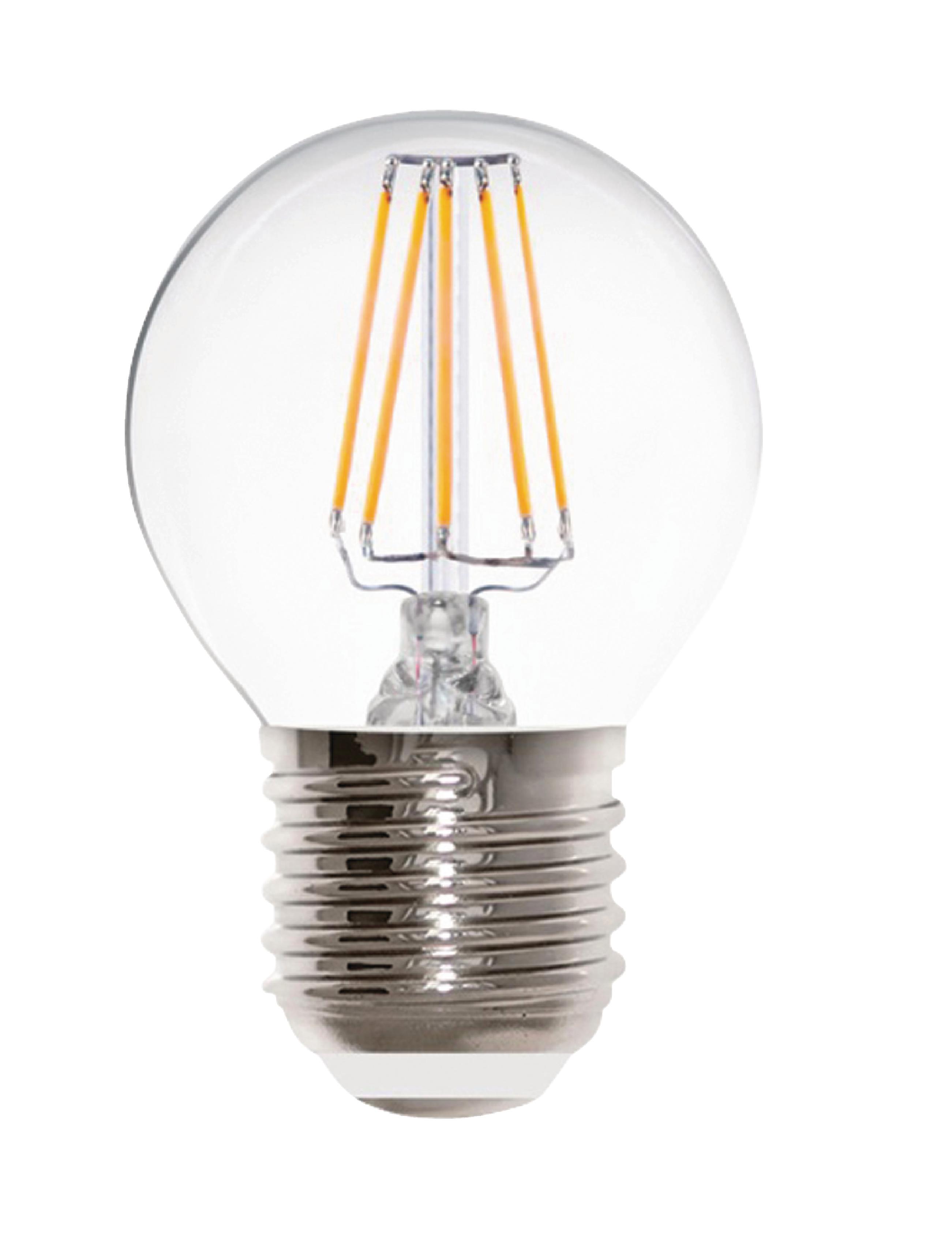 Century Bombilla globo LED, 4?W, base E27, color 2700K?, m?s de 20.000 horas de duraci?n
