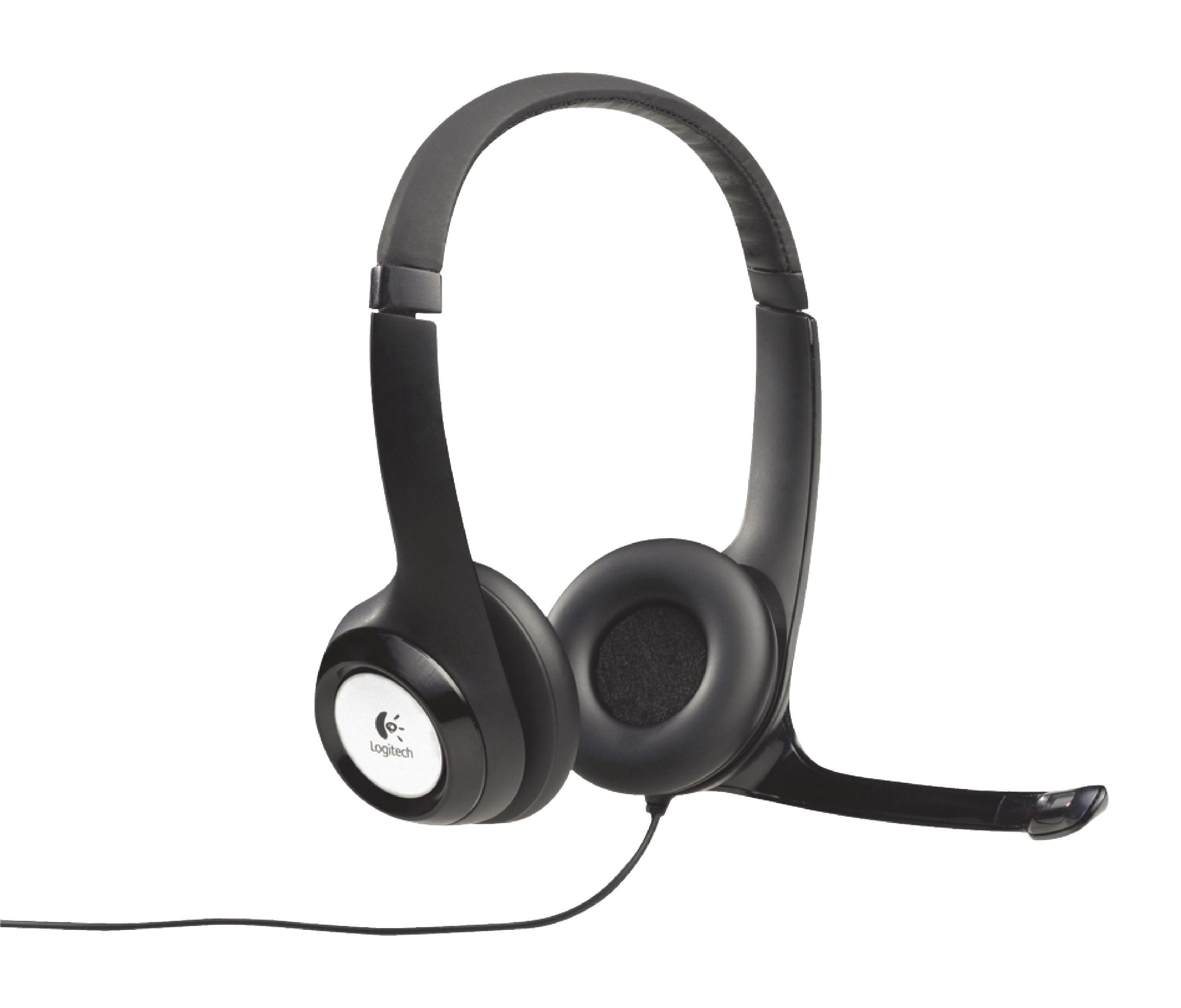 Auriculares USB H390 de Logitech con micr?fono ajustable Color Negro