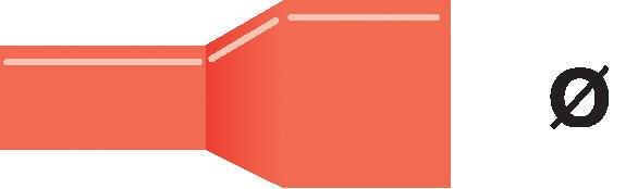Terminal de color rojo Valueline