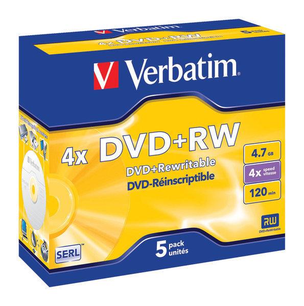 DVD+RW Matt Silver 5x 4.7GB