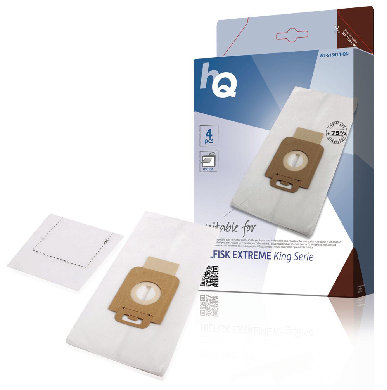 HQ Pack de 4 Bolsas para aspiradoras + micro filtro Nilfisk de las series Extreme - King