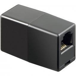 Adaptador Telefono 6p6c Rj12 Doble Hembra