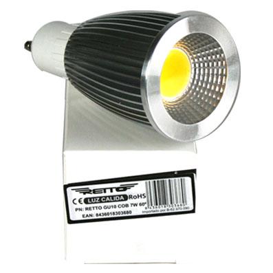 Bombilla led gu10 7w retto luz