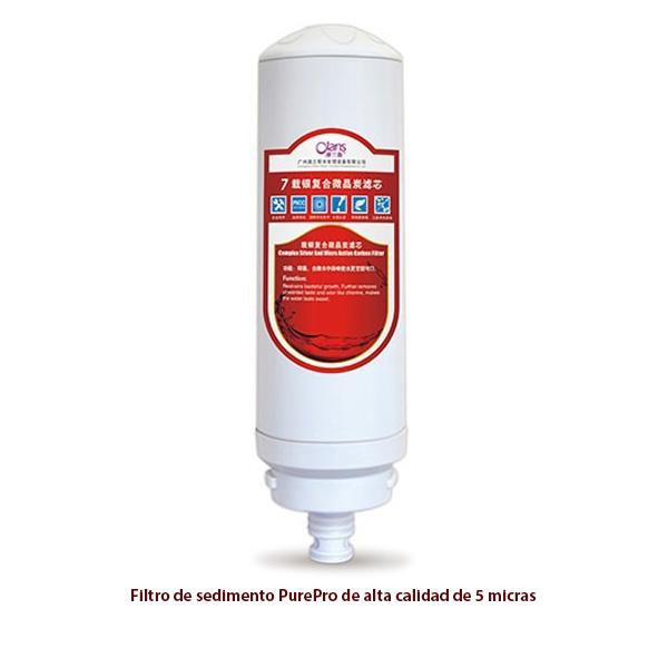 Filtro de carbono activo para purificador