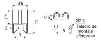 Pinza portafusible c/impreso para fusibles de